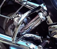 Rear crashbar saddlebags protector guards